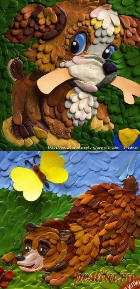 Картины из пластилина