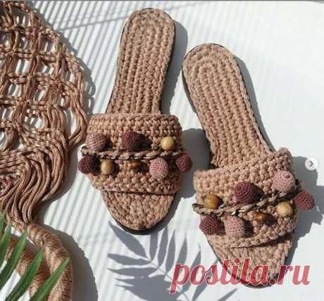 Обувь крючком из трикотажной пряжи и шнура - идеи для вязания и вдохновения | Anna Gri Crochet | Яндекс Дзен