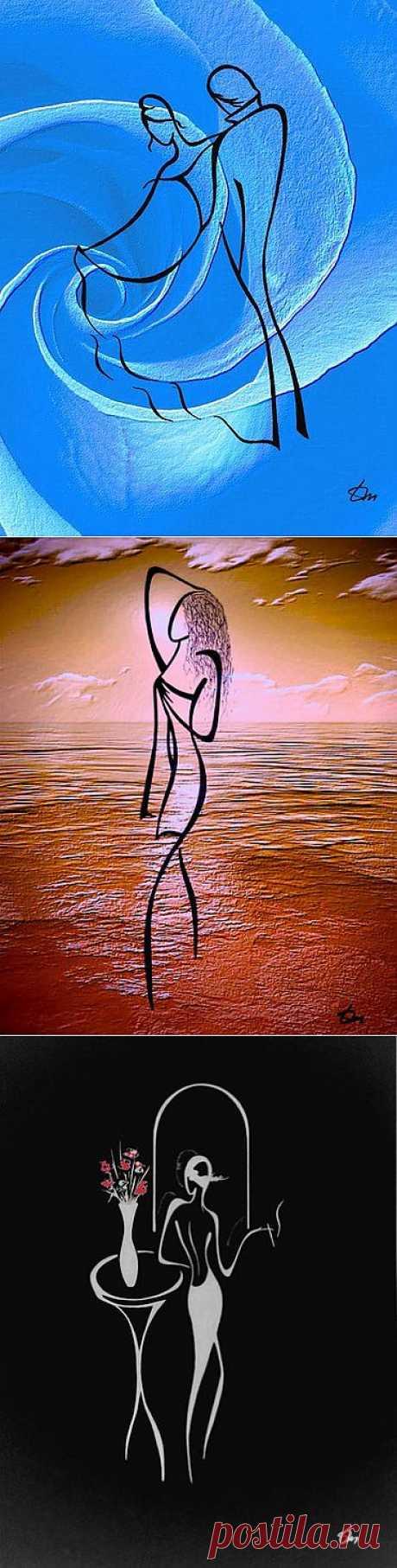 (+1) тема - Предельная выразительность нескольких линий. Художник Татьяна Марковцева. | Искусство