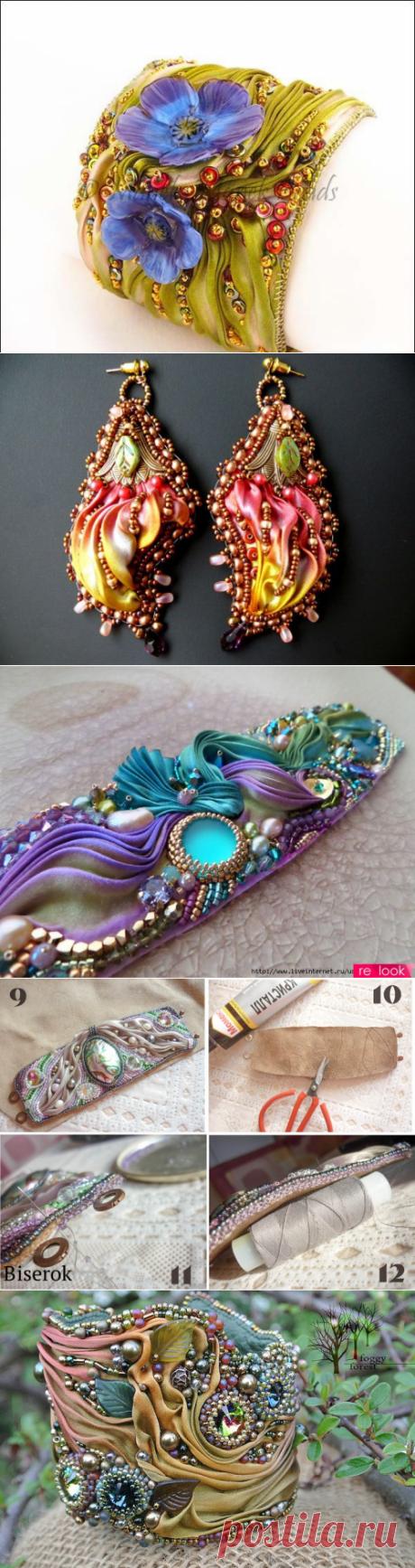Роскошные браслеты в стиле шибори — Делаем руками