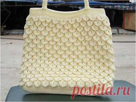 Идеи для творчества. Красивая сумка узором «Крокодилья кожа».