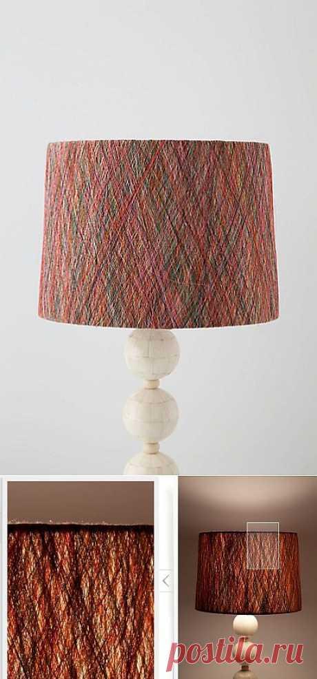 Лампа с абажуром из ниток Anthropologie / Освещение / Модный сайт о стильной переделке одежды и интерьера