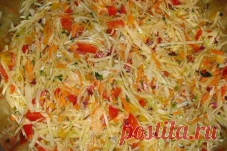 Очень вкусный овощной салат