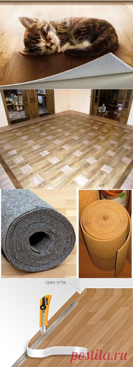 Укладка линолеума на бетонный пол: инструкция