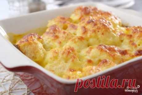 La coliflor en la crema agria con el queso - la receta de la foto en Повар.ру