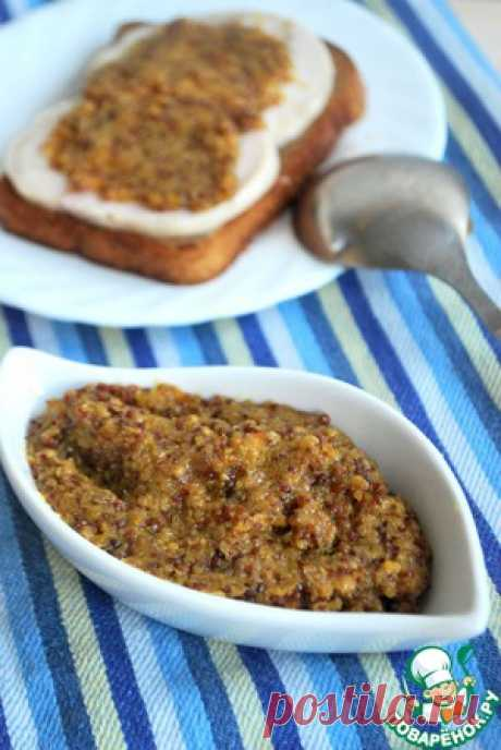 Горчица цельнозерновая - кулинарный рецепт