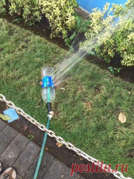 Как сделать разбрызгиватель для полива? — Полезные советы