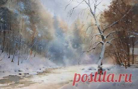 """""""Много воздуха, солнца и тепла...""""художник Сергей Курбатов"""