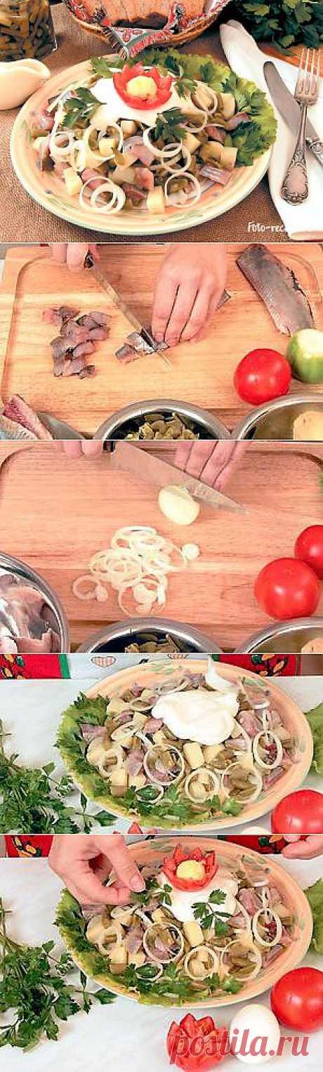 Салат из сельди с фасолью - Рецепты с фото пошагового приготовления на Фото-Рецепты. ру