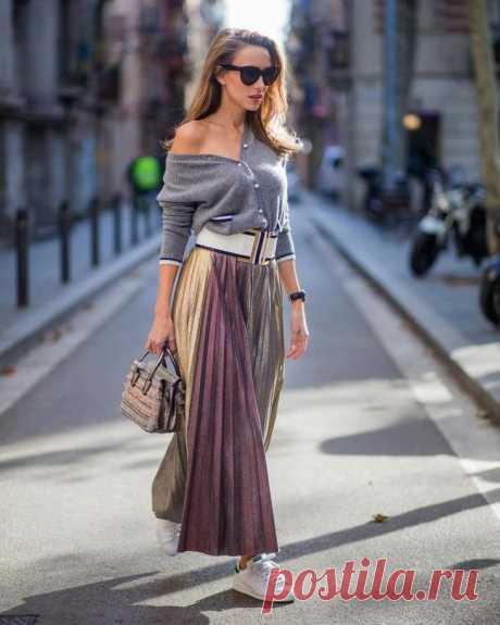 Как и с чем носить длинные юбки осенью В обществе принято, что длинная юбка предназначена для торжества или летних сетов. Стилисты считают, что длинные модели отлично сморятся и в осенних образах. Причем они получаются очень яркими, неорди...