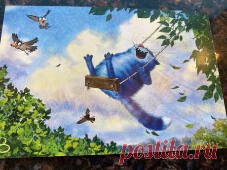 Узнаваемые синие питерские котики Ирины Зенюк: такие миляги, что невозможно не улыбнуться   Соло - путешествия   Яндекс Дзен