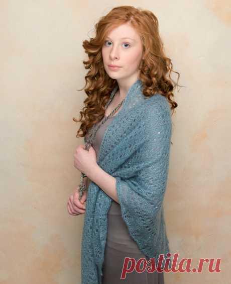 Knitting of a shawl of Gypsy, Sarah Hatton