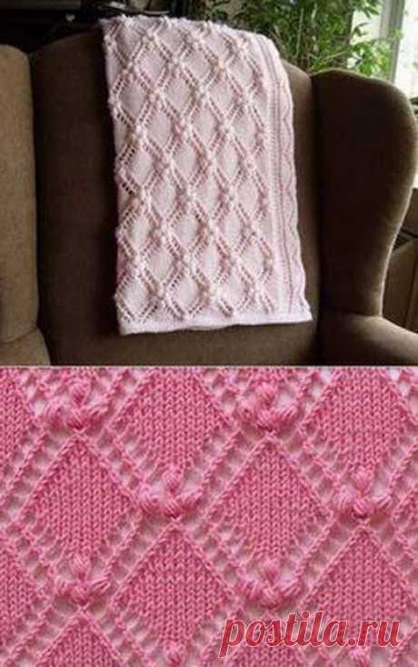 Схемы к красивым узорам для вязания спицами