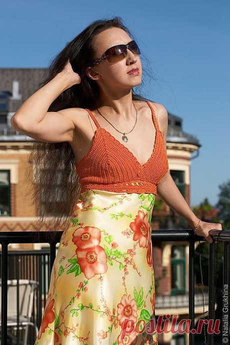 Превращаем юбку в платье с вязаным лифом. МК.