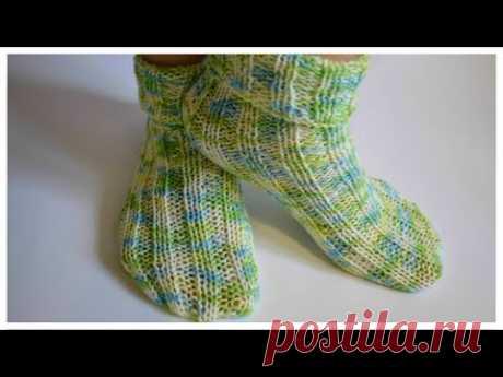 Носки спицами на любой размер / супер быстро просто и красиво