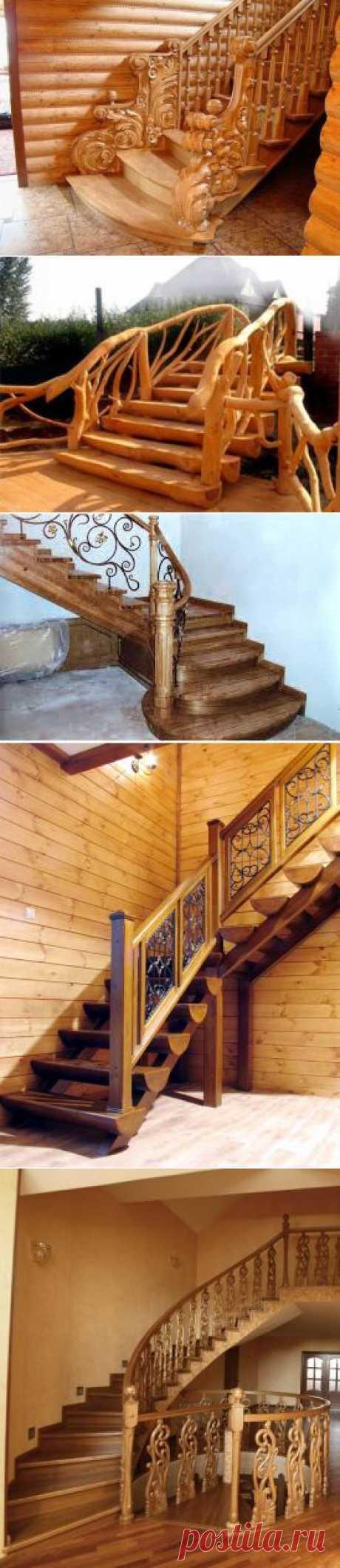 Красивые деревянные лестницы.   ВСЁ ДЛЯ ДОМА
