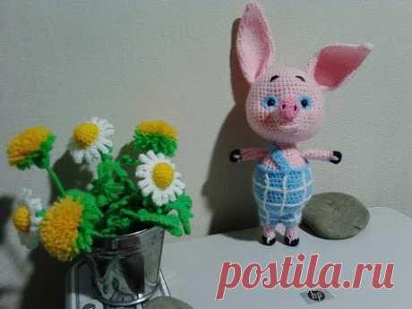 "Пятачок из ""Винни пух"", ч.2.  Piglet from ""Winnie Pooh"", р.2.  Amigurumi."
