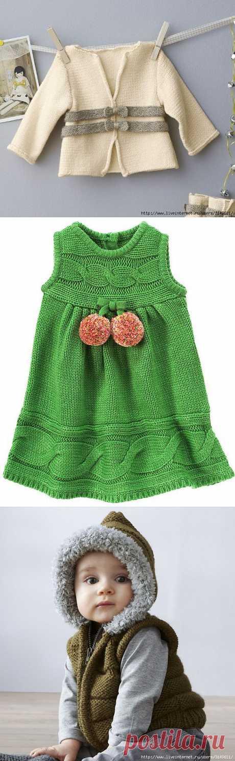 Детские вязаные кофточки, жилеточки, платья... !