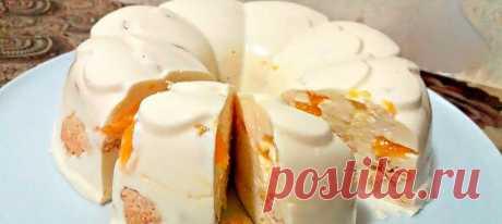 Торт без выпечки «Снежок». Нежный и очень вкусный!