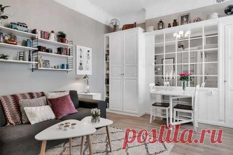 Стильная шведская квартира 26 кв. м. — Наши дома