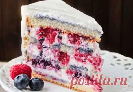 Торт с творожным кремом: потрясающие вкусный и красивый торт на шифоновом бисквите - Скатерть-Самобранка - медиаплатформа МирТесен
