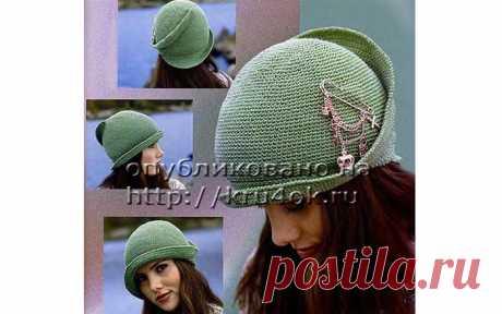 Вязаная элегантная шляпка на осень или весну