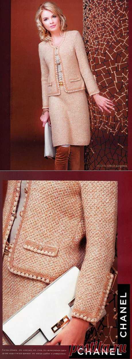 Современные вязаные костюмы с стиле Коко Шанель. Выкройки+ описание. | razpetelka.ru