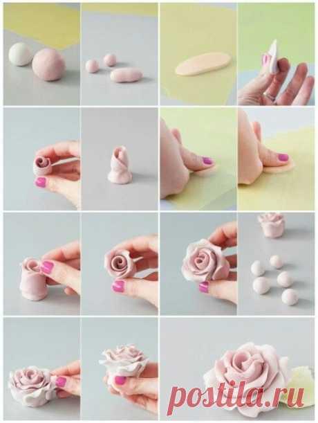 Цветы: лепка — Сделай сам, идеи для творчества - DIY Ideas