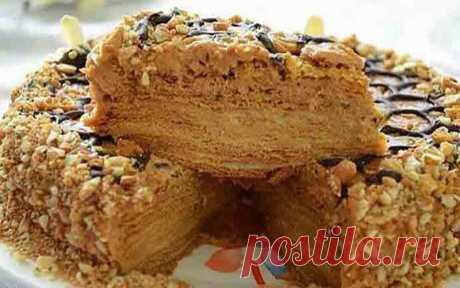 Рецепт восхитительного медового торта с заварным кремом - Скатерть-Самобранка - медиаплатформа МирТесен