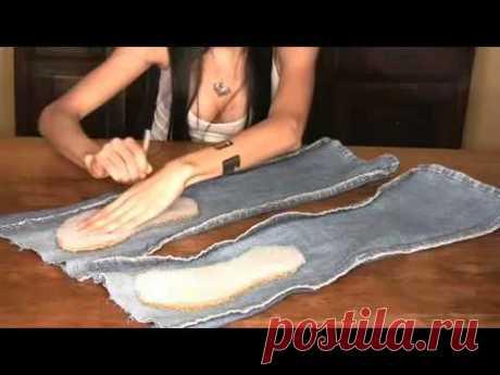 шлепанцы из джинсов