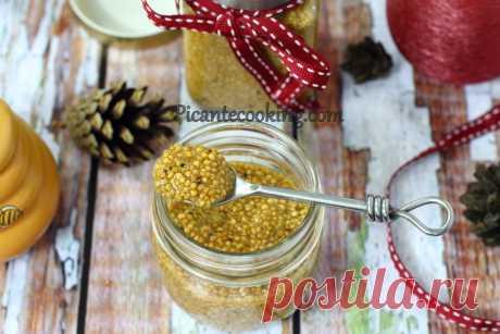 Домашня зерниста гірчиця Домашня не гостра, кисло-солодка, зерниста гірчиця на яблучному соці з медом. Домашній продукт для себе або на подарунок.