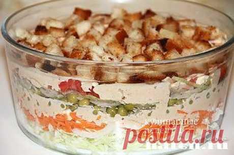 Американский слоеный салат | Харч.ру - рецепты для любителей вкусно поесть
