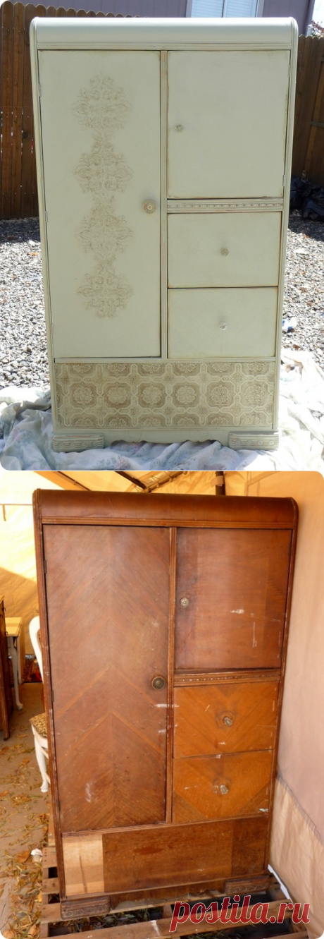 """La restauración original """"убитого"""" el armario (Diy) \/ los Muebles \/ la SEGUNDA CALLE"""