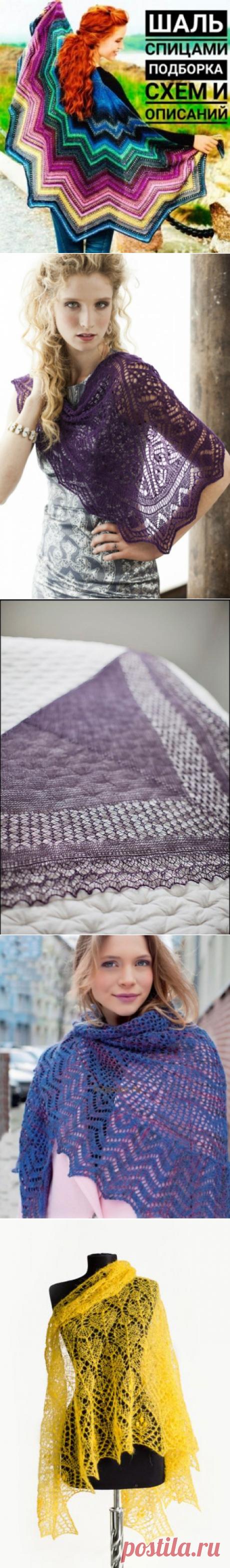 Шаль спицами, 60 схем вязания шалей с описанием и видео-уроками, Вязание для женщин
