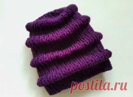 Теплая шапка на зиму интересным объемным узором спицами » «Хомяк55» - всё о вязании спицами и крючком