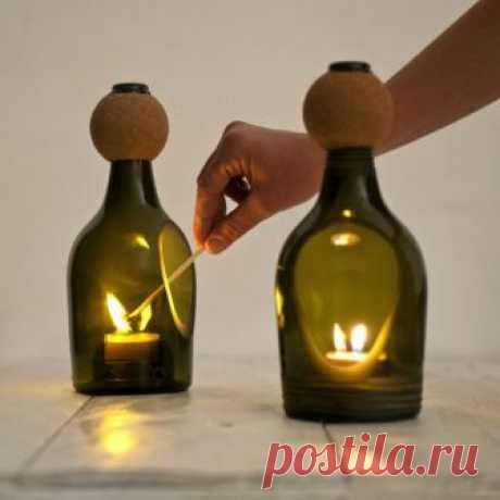 Крутые светильники из бутылок / Освещение / ВТОРАЯ УЛИЦА