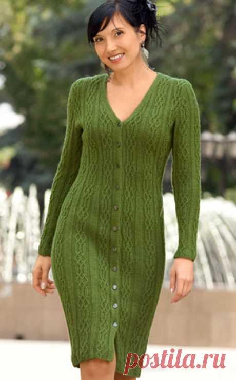 Зеленое платье спицами – 9 моделей со схемами и описанием, видео МК — Пошивчик одежды