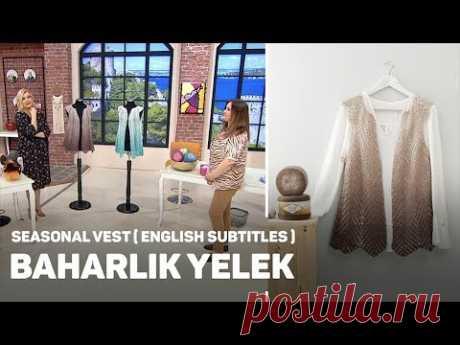 Alize Angora Gold Ombre Batik ile Baharlık Yelek - Seasonal Vest
