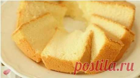 Как приготовить пышный бисквит без яиц - рецепт, ингредиенты и фотографии