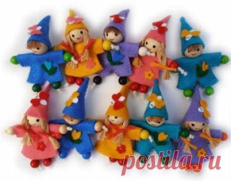 Куколки для декора... Мастерим с детьми!