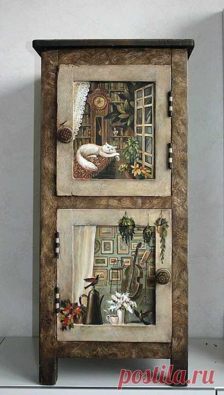 """Купить тумбочка """"путешествие"""" - Мебель, тумбочка, предмет интерьера, оригинальный подарок, украшение для интерьера"""