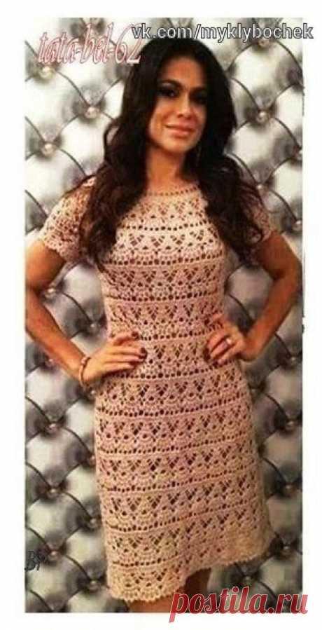Платье крючком #вязание #крючком