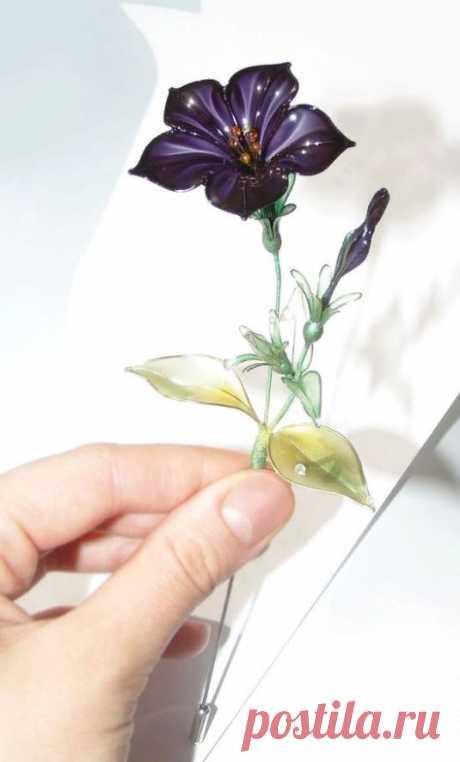 Сказочные цветы из проволоки и особого материала. Красота неземная! - Домоводство - медиаплатформа МирТесен