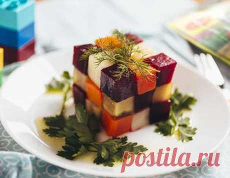 Овощной салат кубик рубика - рецепт приготовления с фото от Maggi.ru