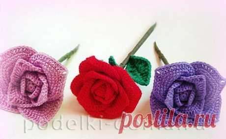 "Цветок розы, вязаный крючком (мастер-класс) | ""Коробочка идей и мастер-классов"". Образовательный портал"