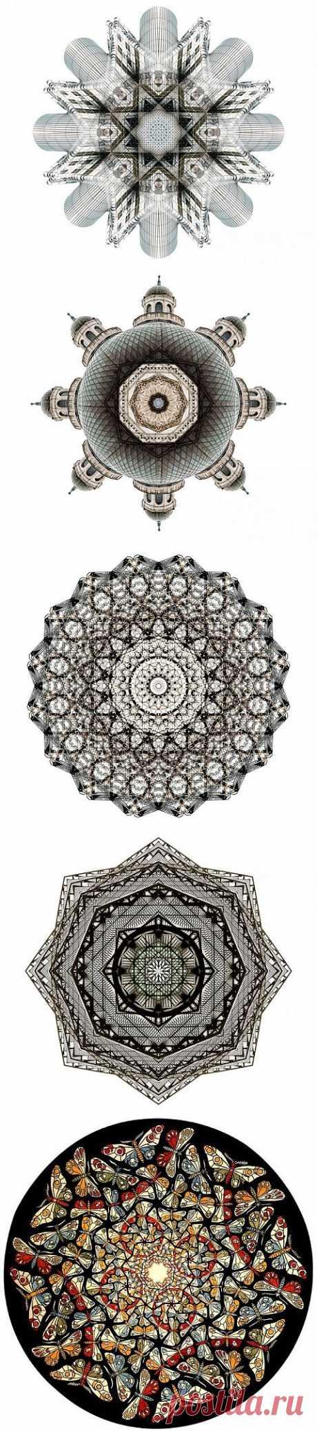(+1) тема - Серия калейдоскопических изображений Кори Стивенса | Искусство
