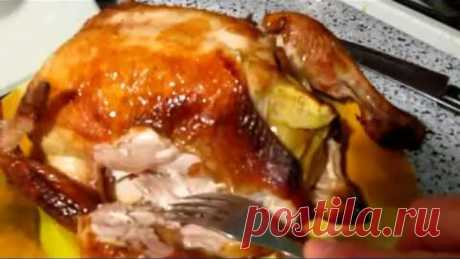 Секрет невероятно сочной КУРИЦЫ в духовке. МАРИНАД для курицы фаршированной яблоками и апельсином