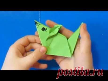 Крыса - символ 2020 года своими руками талисман Мышка оригами поделки с детьми ( игрушка на елку)