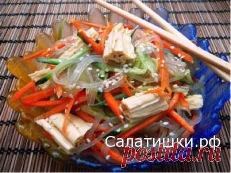 RECIPE of SALAD WITH CELLOPHANE NOODLES And SPARZhOY | Recipes of tasty salads