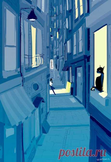 Волшебство ночи... Художник Паскаль Кэмпион (Pascal Campion).